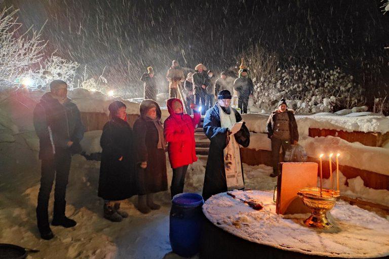 Праздник Крещения Господня в селе Кузьминском