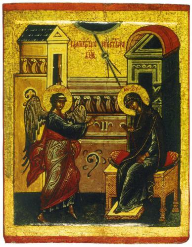 БлаговещениеТретьяковская галереяВторая половина — конец XV в.