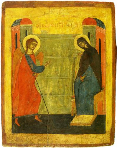 БлаговещениеМузей палехского искусстваКонец XIV — начало XV вв.
