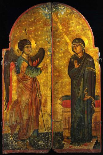 Царские врата с изображением БлаговещенияМонастырь св. Екатерины, СинайНачало XIII в.