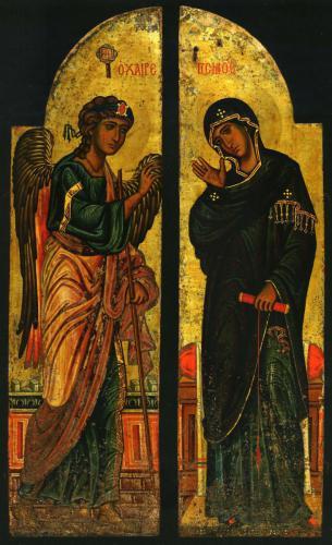 Царские врата с изображением БлаговещенияМонастырь св. Екатерины, СинайКонец XII в.
