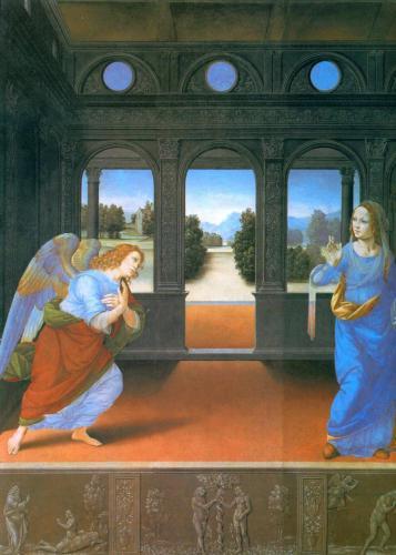«Благовещение». Lorenzo Di Credi.