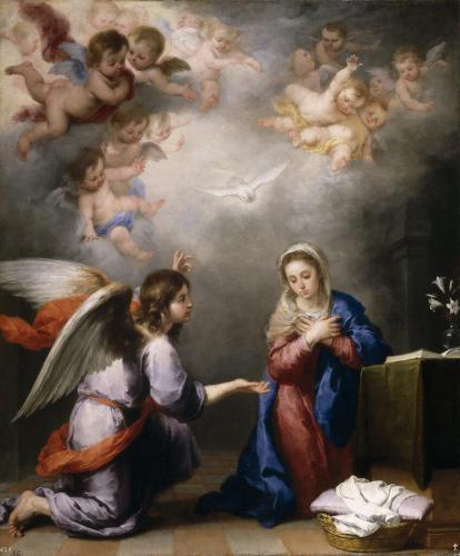 Murillo , Bartolome Esteban (Spanish, 1617-1682) -- Благовещение, 1660,  Музей Прадо
