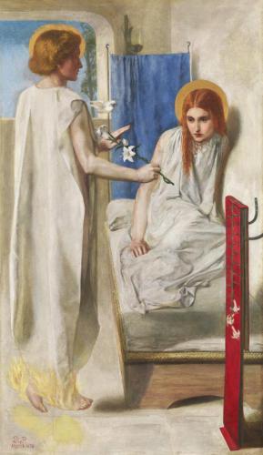Данте Габриэль Россетти (1828-1882) Благовещение 1850 г.