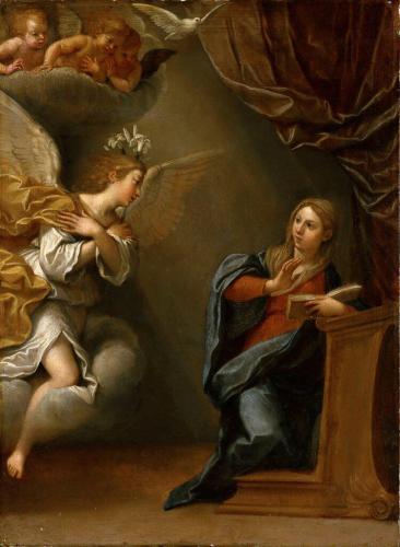 Албани, Франческо (Болонья 1578-1660), Благовещение, Лувр