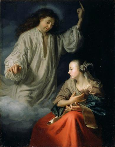 Шалькен Годфрид (1643 Дордрехт - 1706 Гаага) - Благовещение 1660-65