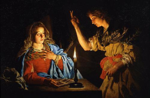 Matthias Stom (Stomer). The Annunciation.