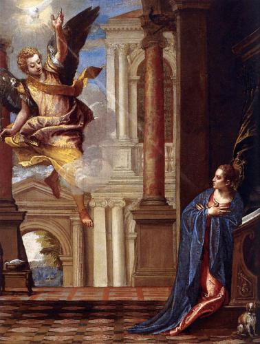 «Благовещение». Паоло Вернезе. 1560