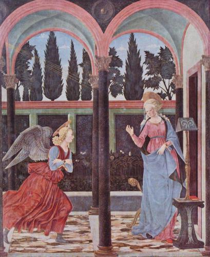 Бальдовинетти Алессо. Благовещение Марии.